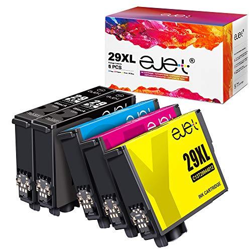 ejet 29 XL Cartuccia d'inchiostro Compatibile per Epson 29 29XL per Epson Expression Home XP-342 XP-245 XP-442 XP-235 XP-335 XP-432 XP-435 XP-332 XP-345 XP-247 XP-445(2Nero, 1Ciano, 1Magenta, 1Giallo)