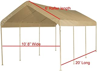 Shade Cloud Canopy Replacement Cover 10'X20' Beige Tarp Top Roof Canopy Replacement Cove (Beige 1-1/2