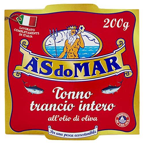 Asdomar - Trancio intero di tonno all'olio di oliva - 200 Grammi