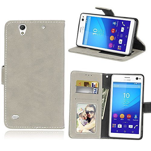 Funda Sony Xperia C4 E5303 E5306 E5353 Case,Bookstyle 3 Card Slot PU...
