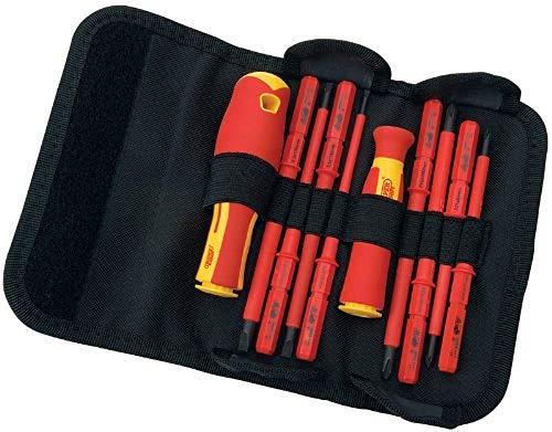 Draper 5721 - Estuche de destornilladores aislados intercambiables (10 piezas)