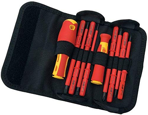 Draper 5721 VDE Interchangeable Insulated Blade Screwdrivers Set (10 Pieces)