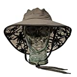 Sun Protection Zone Unisex Lightweight Adjustable Outdoor Booney Hat...