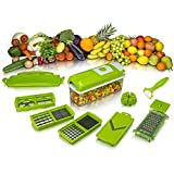 Generic 12 in 1 Fruit & Vegetable Chopper Set- Chopper, Cutter, Grater, Peeler, Chipser, Dicer, with Container Lock System