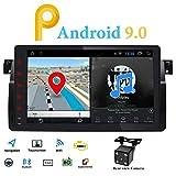 Android 9.0 Single Din Radio Estéreo de Coche GPS Fit para BMW E46 3 Series 1998-2005 Multimedia Bluetooth WiFi Mirrorlink Volante Control 9 pulgadas Pantalla táctil 4G DVR OBD2 DAB+Cámara