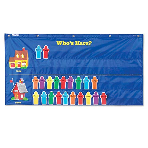 Learning Resources Helping Hands Pocket Chart, Classroom Organization, Teacher Accessories, 30 Cards, Ages 5+