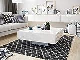 Sellon24/Miza Couchtisch Weiß Hochglanz Kaffeetisch Acryl 80x80 quadratisch modern Qualität Iron (80 x 80 cm)