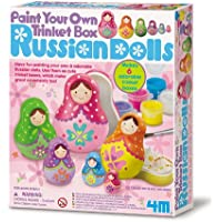 Deals on 4M Paint Your Own Trinket Box Russian Doll Kit
