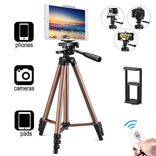 Tablet Stativ Halterung,Kamera Stativ, Handy Stativ, Bluetooth Selfie Stick Stativ 3 in 1, Bluetooth Fernbedienung Stativ für iPhone Android Samsung und Kamera Stativbeine