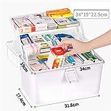 HUOQILIN Preparazione Kit Farmaci Sfusi Gabinetto di Casa Medicina Multistrato Portatile Contenitore Serbatoio di Stoccaggio di Emergenza Medica (Color : White)