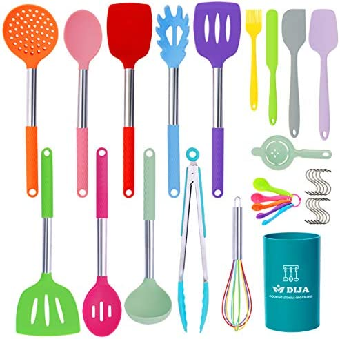 Silicone Cooking Utensils Set 31pcs Kitchen Utensils Set Heat Resistant Non stick Silicone Spatula product image