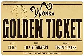 cokefy Custom Machine-Washable Willy Wonka Golden Ticket Chocolate Bar 3 Door Mat Decorative Doormat Indoor/Outdoor Doormat Non-Woven Fabric Non Slip Gate Pad Rug 23.6 X 15.7 inch