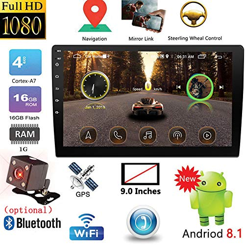 ETbotu GPS-navigatie voor auto, 2DIN Android Car Multimedia Player GPS autoradio Bluetooth WiFi autoradio MirrorLink 2Din autoradio Radio 10,1 inch