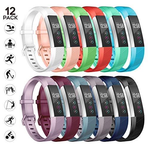 sunyfeel Ersatz-Armband für Fitbit Alta HR und Alta, modisches Sport-Silikon-Armband mit Metallverschluss für Alta HR/Alta
