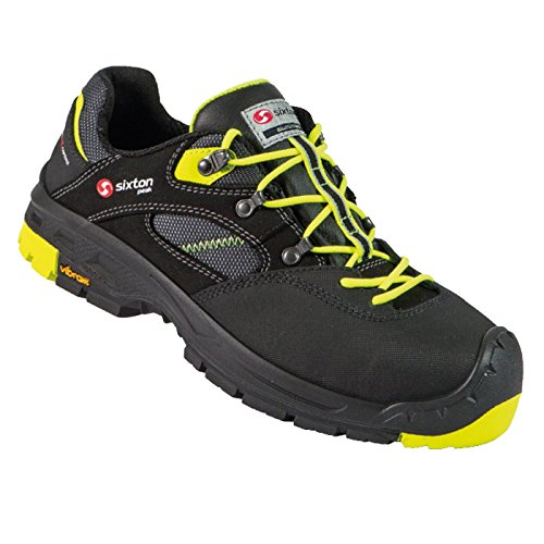 SIXTON Ortles Low S3, Schuhgröße:45 (UK 10.5), Farbe:schwarz/grün