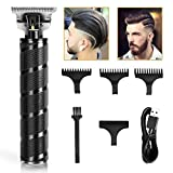 Hair Clippers for Men, Zero Gapped Hair trimmers, Anyfun T-Blade Trimmers for Hair Cutting, Cordless Hair Clippers Barber Clippers,USB Qucik Charge Waterproof Pro Li Trimmers (black)