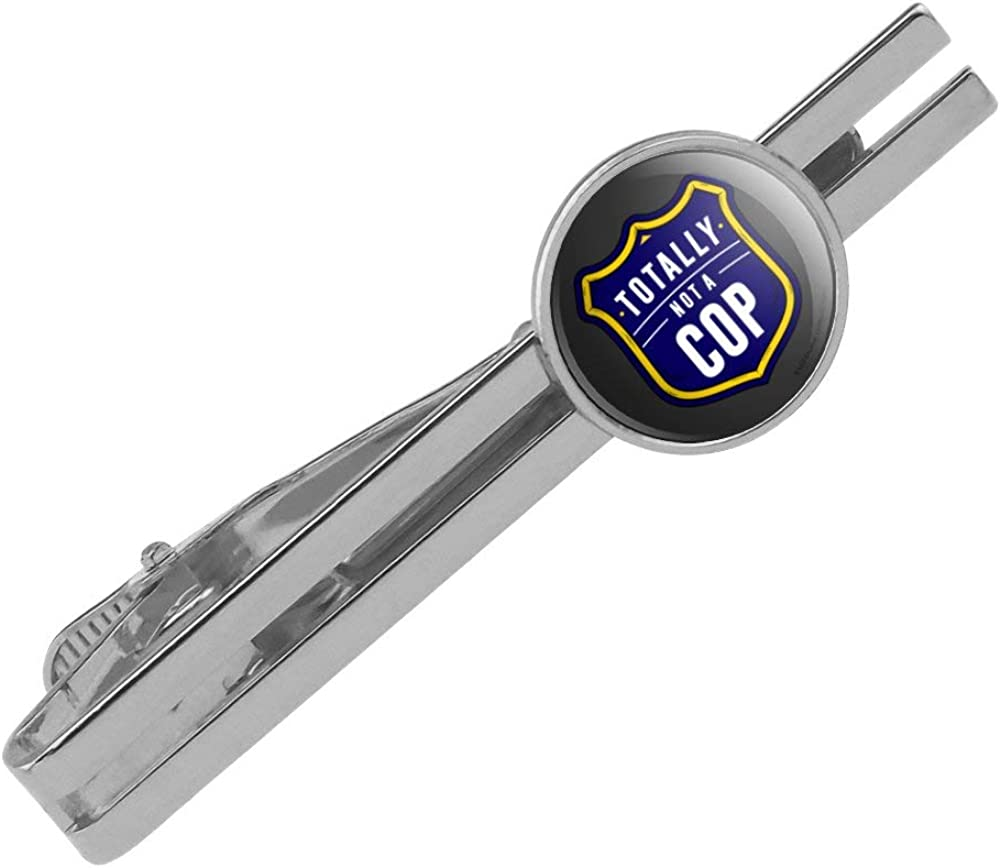 GRAPHICS Max 85% OFF MORE Totally Price reduction Not a Cop Humor Clip Funny Tie Bar Round