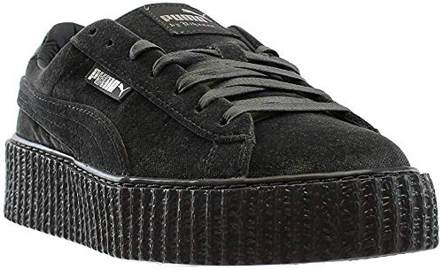 PUMA Womens Fenty by Rihanna Gray Creeper Velvet 36446603 Sneakers Shoes 9