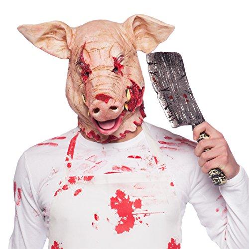 Folat 23831 Horror Latex Maske Grusel Schwein Halloween, Multicolor
