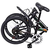 Beacaden Road Bike, 20 Inch 7 Speed City Bicycle Folding Mini Compact Bike Bicycle Urban Commuting Bike with Streamline Frame, Great for Commuters