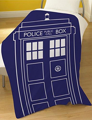 Dreamtex Doctor Who Tardis Manta de Forro Polar–Manta para Cama
