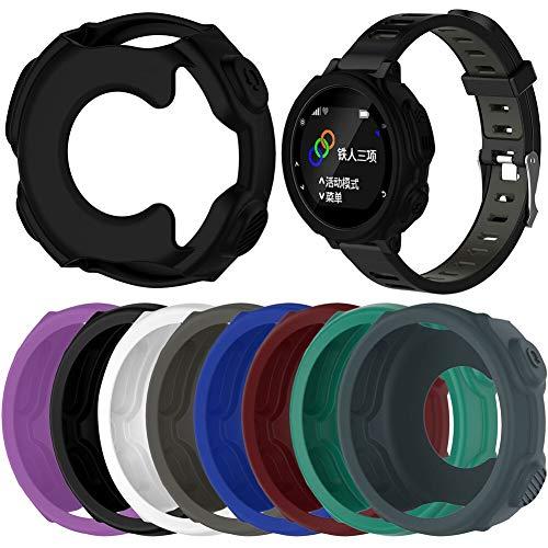 YANODA De Silicona Caso Protector For Garmin Caja del Reloj De Pulsera De Replacment De Suave For Garmin Forerunner 235 / 735XT Reloj GPS Adjustable (Color : Light Blue)
