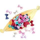 Landia 50 unids/Lote Mini Cinta de satén Lazo-Nudo hogar Hecho a Mano DIY artesanía Scrapbooking Chica Horquillas Ropa decoración Accesorios de Costura