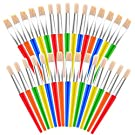 anezus Paint Brushes, 30 Kids Paint Brushes Bulk Children Paint Brushes Set with Jumbo Round Watercolor Paint Brush and Large Flat Craft Paint Brushes