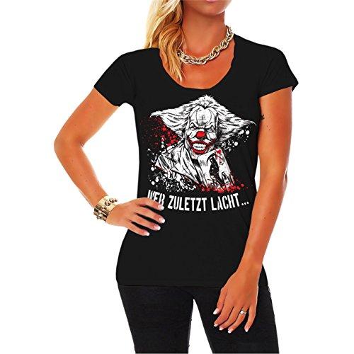 Spaß kostet Frauen und Damen Tshirt 31er Wer zuletzt lacht (mit Rückendruck)