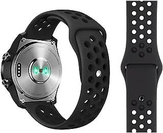 FOOKANN Soft Slicome Watch Sport Band Compatible for Samsung Galaxy Watch 3 45mm, Galaxy Watch 46mm, Gear S3 (Black)