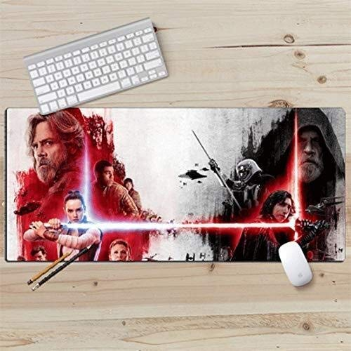 ZCP Gaming Mouse Pad,Big Mouse Pad Superman Hero KeyboardMat Thicken Star Wars for Desk Laptop PC Game Office Imperial Stormtrooper Imperial Army (Size : 900x400mm) (Size : 800x300mm)