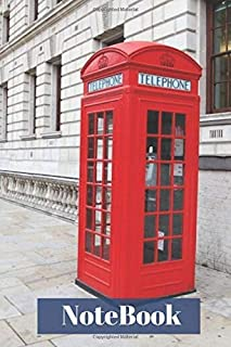 NoteBook: with a London Red Telephone Box Cover