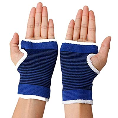 Luxxii 2 Pack - Wrist Palm Support Flexible Wrist Brace/Hand Support Compression Pad for Men and Women