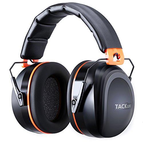 Tacklife Casque Anti-bruit Pliable Enfant Adulte, SNR 34dB/Protection Auditive/Certification CE/Confortable/Idéal pour Bricolage,...