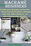 MACRAMÉ FOR BEGINNERS: A complete guide to Master how to create basic Knots;Macramé Projects like Plant Hangers, wall hangings,curtains,Bags,Necklaces, ... to decorate your home (English Edition)