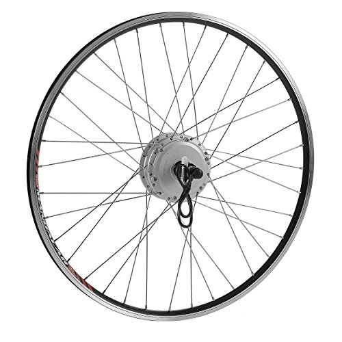 E Bike Umbbausatz 28 Zoll, Ebike Conversion Kit, Elektrofahrrad Heckmotor Hinterrad Motor für Steckkranz in Silber oder Schwarz (Silber)