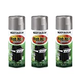 Rust-Oleum 270201A3 High Heat Ultra Spray Paint, 3 Pack, Silver, 3 Count