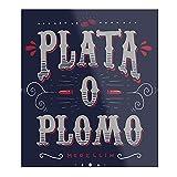 Póster impreso de estilo colombiano ideal para decoración de habitaciones.