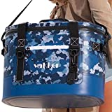 VAKKER 30 Can Insulated Cooler Bag, 3 Days Ice Life, Waterproof, Leakproof, Dustproof Portable Soft Side Cooler Bag, Lunch Box for Outdoor, Camping, Hiking, Beach, Travel, Picnic (Navy Camo)
