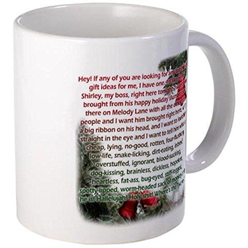 11 ounce Mug - Clark Griswold rants, Christmas Vacation Mug - S White