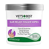 GENTLY CLEANSES – Vet's Best Ear Relief Finger Wipes single-use finger wipes gently and effectively removes dirt and dissolves waxy build-up. SOOTHS & DEODORIZES - Regular use of our wipes will help to safely & gently remove build-up and discharge th...