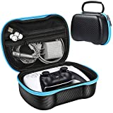 ZtotopCase for PS5 Official DualSense 5 Controller Case, Gamepad Hardcase Shock-Absorbing Protection Case for PlayStation 5 Wireless Controller- Black