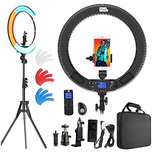 Ring Light with Wireless Remote Controller, Pixel 19 inch Pro Vlogging...