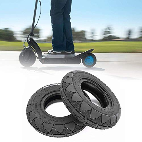 JYCTD Neumático sin cámara para Scooter de 8 Pulgadas, Borde Delantero y Trasero para ciclomotor de Motocicleta (Negro)