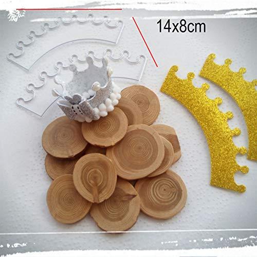 Troquel de corte de bricolaje Corona de cumpleaños muere plantilla de plantilla de álbum de recortes para tarjetas de álbum de fotos de papel de relieve bricolaje que hacen nuevos troqueles de met