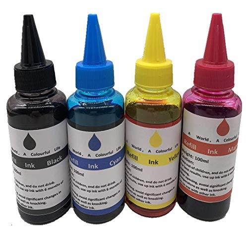 Tinta para impresora compatible con todas las impresoras CAN: MG PG 240 243 245 CL 241 244 246 XL Cartucho de inyección de tinta a granel grado estándar 100 ml (4 colores)
