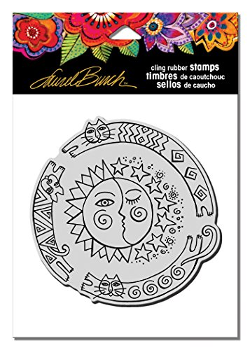 Stampendous LBCW011 Laurel Burch Cling Stamp, Sun Chase