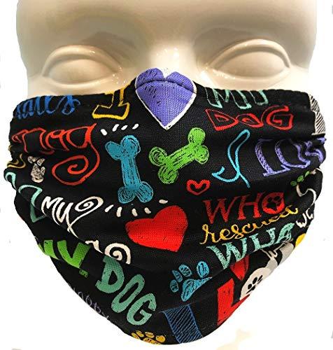 Breathe Healthy Face Mask - Washable, Reusable Mask, I Love My Dog Design