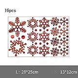 DXAQC Christmas Window Decoration, Snowflake Window Clings Snow Flakes PVC Stickers for Christmas Window Display (B,16pcs)