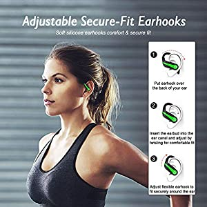 Wireless Earbuds Sports Chstarina Bluetooth 5.1 Earbuds IP7 Waterproof Wireless Headphones In-Ear with Charging Case Ear Hook 40H Playtime Deep Bass Ear Buds Noise Cancelling Earphones for Gym Running